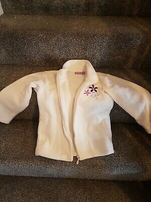 Miss M Girls Super Soft White Fleece Jacket Age 6 To 7 Years
