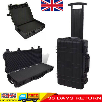 Waterproof Equipment Hard Trolly Carry Transport Case Box Carrier Storage Black