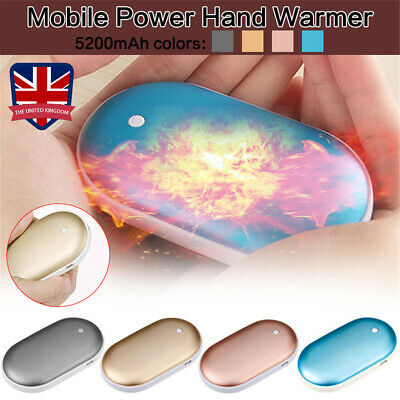 Rechargeable 5000mAh Power Bank Hand Warmer USB Charger Electric Pocket Heater