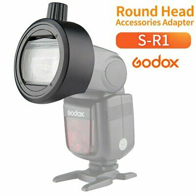 Godox Round Head Adapter S-R1 For V860II V850II TT685 TT600 Flash Speedlight