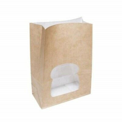 Sandwich Bag, Brown Pouch Counter Bag, Window Paper Bag, Grease Proof Bags