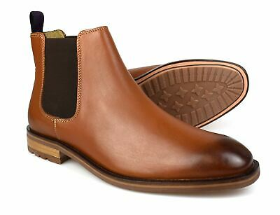 Catesby WINDSOR Goodyear Welted Leather Cleated Rubber Sole Derby Boots Tan