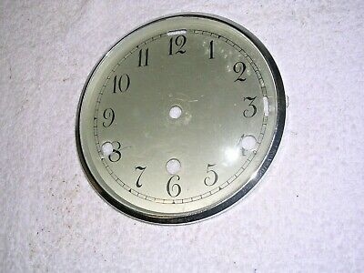 Clock  Parts  ,Chrome  Bezel  With   Face