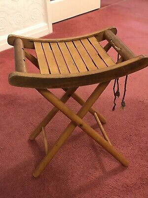 Wood Antique Foldable Chair Stool
