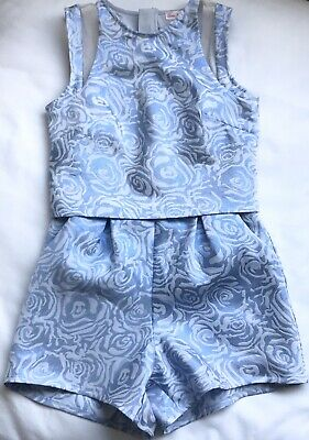 Little Misdress Girls Designer Blue Sparkly Playsuit Occasion Party-wear 11-12 Y