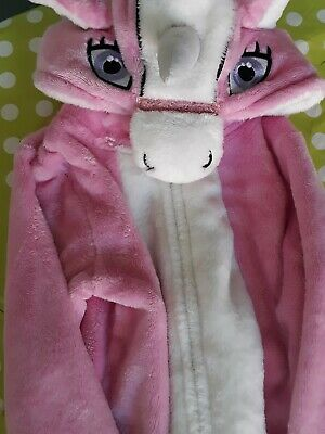 Girls Pink Unicorn All In One Pyjamas 6-7