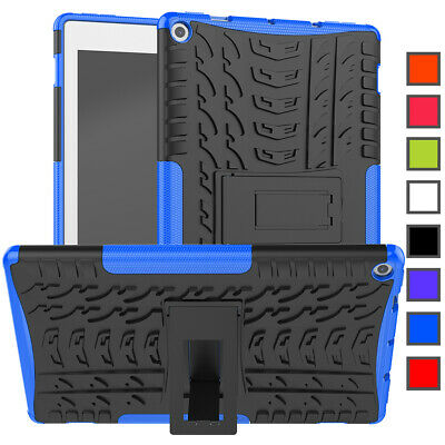 """For Amazon Kindle Fire HD 10"""" Inch 2019/2017 Rugged Silicone Bumper Case Cover"""
