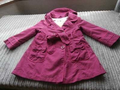 AUTOGRAPH MARKS SPENCERS Smart HOODED  Coat Jacket Age 2-3 Years GIRLS VGC
