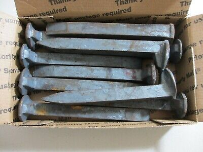 "10 New Carbon Steel Railroad Spikes- 6.75"" Free Shipping -  *Lot Of 10 Pc's *"