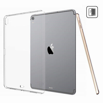 For Apple iPad 10.2 inch 7th Gen 2019 Tablet Transparent Silicone Gel Case Cover