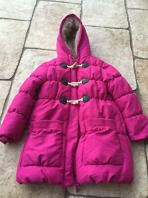 JOHN LEWIS Girls Winter Padded pink Hooded Coat/Jacket Age 8 Years