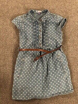 John Lewis Girls Denim Dress Age 5