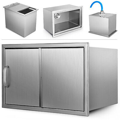 69 X 4654CM BBQ Kitchen Drop In Ice Chest Bin Cold Drinks Box Beer Beverage