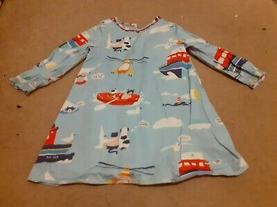 Girls MINI BODEN Pink Cotton Dress Age 2-3 Years rnli sea rescue cats