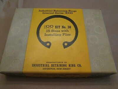 Industrial Retaining Ring Kit, No. 30,Internal Series 3000, Rings & Pliers, Nice