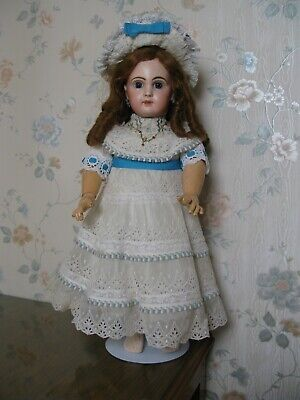 "20"" Antique French Jumeau Doll Circa 1890 Closed Mouth"