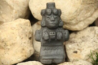 Aztec Death Whistle Mictecacihuatl black clay produces most frightening sound!!