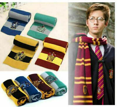 Harry Potter Scarf Gryffindor-Slytherin-Hufflepuff-Ravenclaw Xmas Cosplay Gifts*