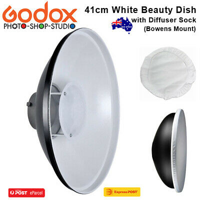 AU* Godox 41cm White Beauty Dish with Diffuser Sock (Bowens Mount)