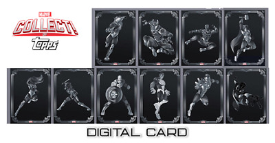 2019 TOPPS DECO AVENGERS SILVER SET OF 10 Topps Marvel Collect Card