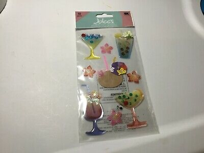 Jolee/'s TROPICAL DRINKS Boutique Stickers BEACH TROPICAL VACATION NEW