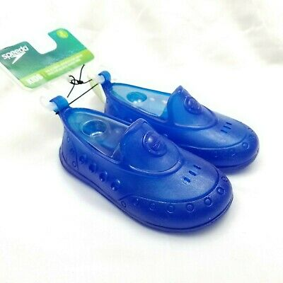 Blue Speedo Toddler Boys Jelly Slip-On Water Shoes NWT