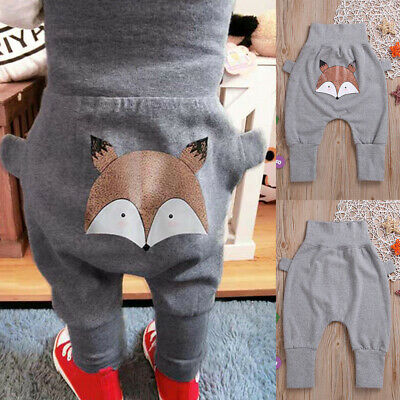 Toddler Baby Kids Girls Boys Character Print Pants Trousers Cute Clothes Outfits