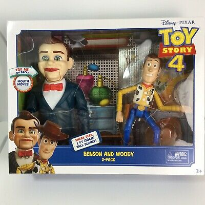 TOY STORY 4 Disney Pixar Benson And Woody 2 Figure Pack NEW Sealed Box
