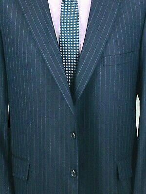 42* Tom James Holland & Sherry Canvassed Mens 2 Button Wool Blazer Dk Navy Exc!