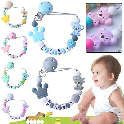 Baby Pacifier Clips Koala Pacifier Chain Holder for Baby Teething Soother Chew