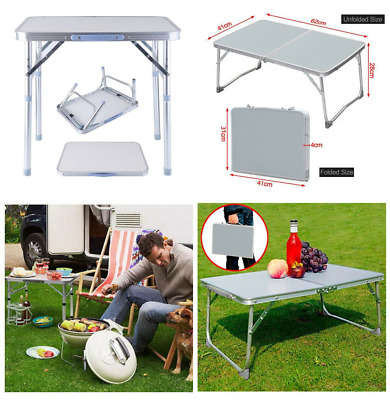 Folding Away Laptop Stand Bed Desk Table Small Breakfast Tray Camping Picnic 2FT