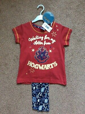 BNWT Matalan Girls Red Harry Potter Hogwarts Pjs Pyjamas Age 7 Years Rrp £12