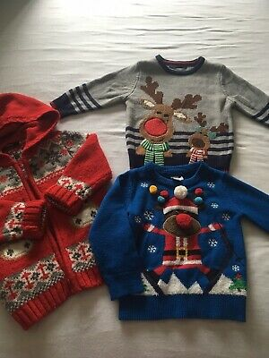 Age 2-3 Years Chistmas Xmas Jumper Cardigan Bundle Clothes Mini Club George