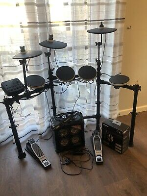 Alesis DM Lite kit With Roland Micro cube Bass Rx And Shure Headphones