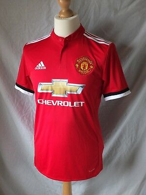 Brand New Genuine Manchester United 2017/18 Home Shirt - Adults Small