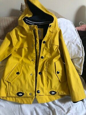 Marks and Spencer Yellow Mac Fishermans Jacket/ Clay Waterproof Age 4-5 Unisex