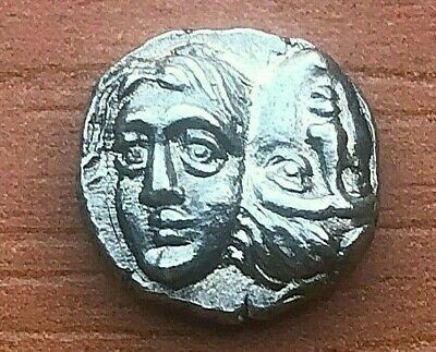 "Istros, Thrace 400-350 BC AR Diobol ""Twins & Dolphin"" Ancient Greek Silver Coin"