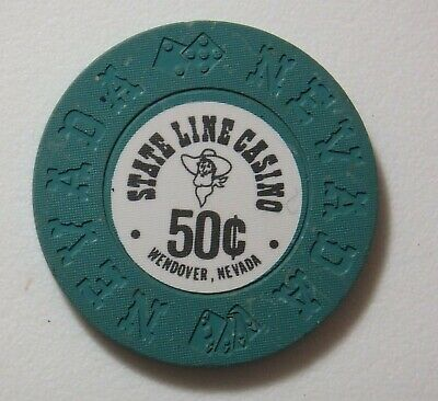 State Line Casino Wendover Nevada $.50¢ Cent Chip R6