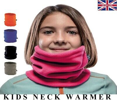 Youth Junior Boys Girls Neck Warmer Gaiter Snood Tube Scarves Scarf Face Mask UK