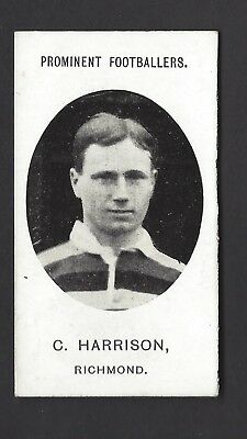 Taddy - Prominent Footballers (No Footnote) - C Harrison, Richmond