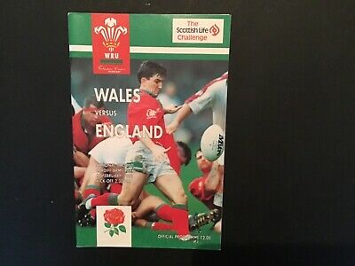 Wales V England Rugby Union 1995 Match  Programme