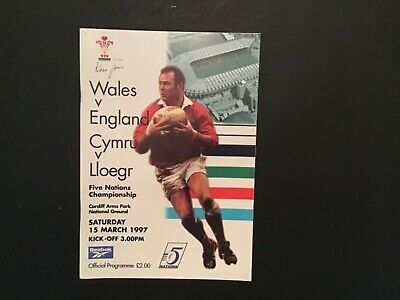 Wales V England Rugby Union 1997 Match  Programme