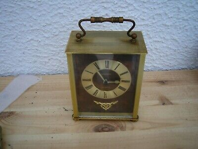 vintage staiger carriage clock brass colour battery operated