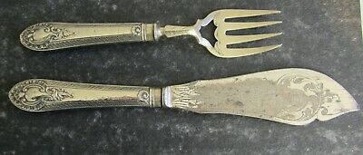 Antique Victorian silver plate Fish Servers