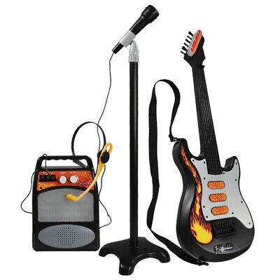 3Pcs Kids Guitar Set Musical Instruments Toy with Stand Microphone and Speaker