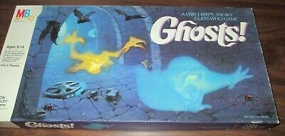 1985 Milton Bradley Board Game * Ghosts! * Complete Creepy Guess Who Game