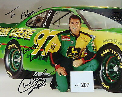 Chad Little NASCAR Original Autographed Color Photograph 1987 Rookie of the Year