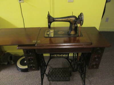 Beautiful Vintage Sphinx Singer Treadle Sewing Machine - Working Condition