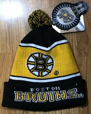 NWT NFL Boston Bruins Big Logo Full Knit Light Up Beanie - Forever Collectibles