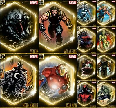 Topps Marvel Collect ULTIMATE UNIVERSE [12 CARD GOLD 2nd Printing SET] Venom+++